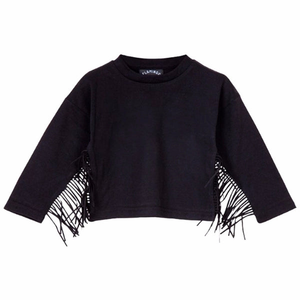 Black Fringed Shirt - ayuki