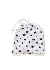 Organic Cotton White Stars Newborn Gift Set - ayuki