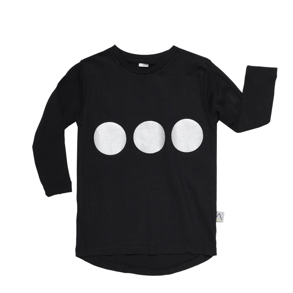 Three Circles Black Toddler T-Shirt - ayuki