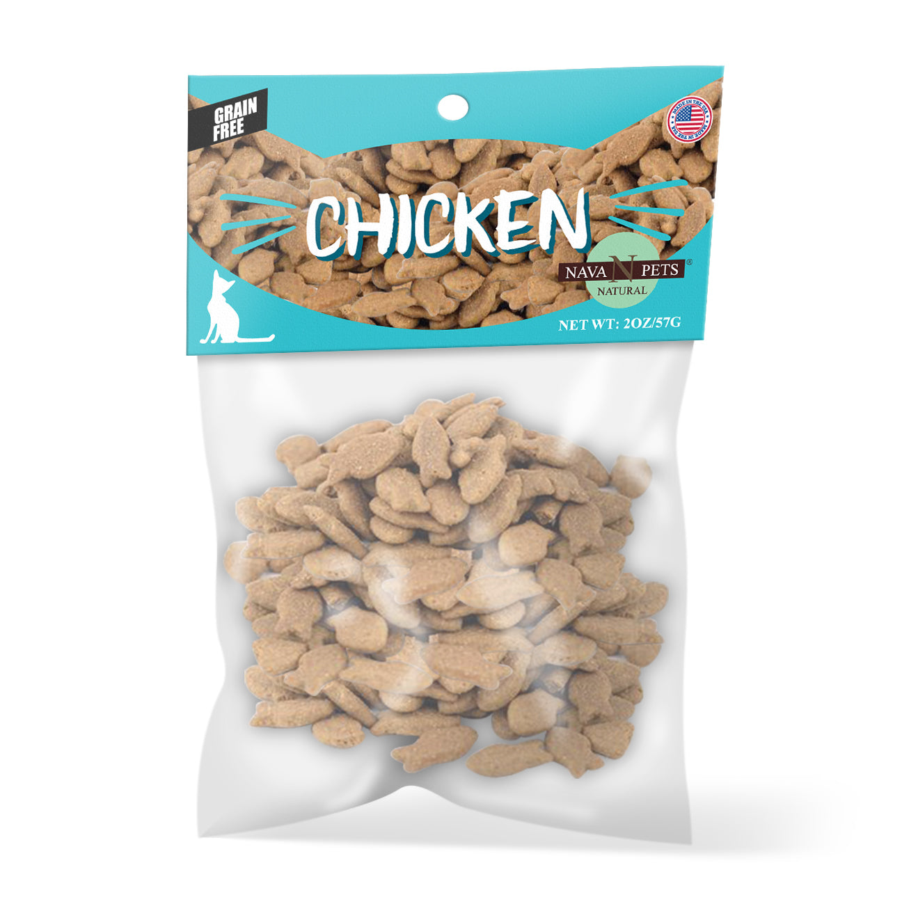 Nava Pets All-Natural Chicken Grain-Free Cat Treats - 4OZ