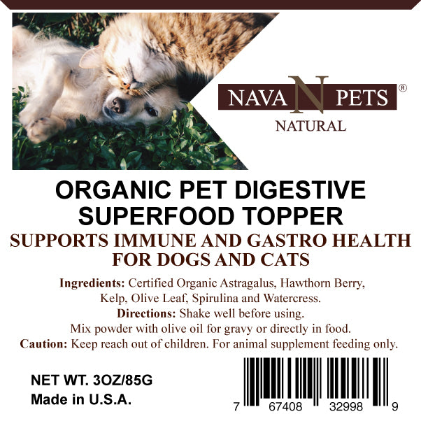 Organic Pet Digestive SuperFood Topper - NAVA Pets
