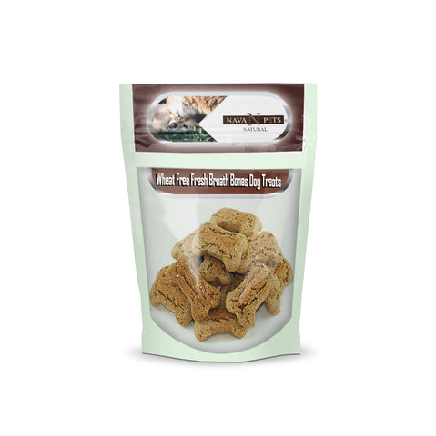 Wheat Free Fresh Breath Bones Dog Treats - NAVA Pets