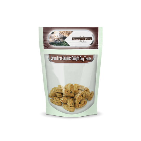 Grain Free Seafood Delight Dog Treats - NAVA Pets
