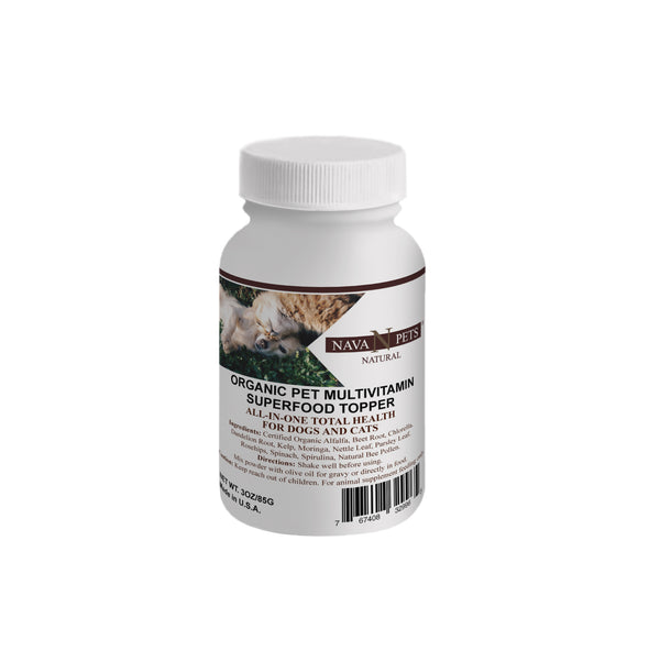 Organic Pet Vitamin SuperFood Topper - NAVA Pets