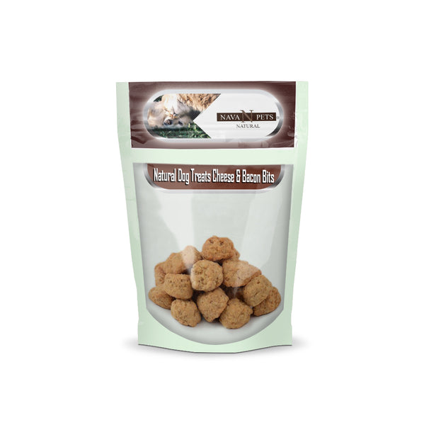Natural Dog Treats Cheese & Bacon Bits - NAVA Pets