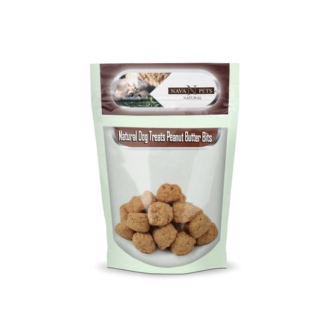 Natural Dog Treats Peanut Butter Bits - NAVA Pets