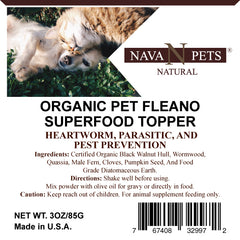 Organic Pet FLEANO SuperFood Topper - NAVA Pets