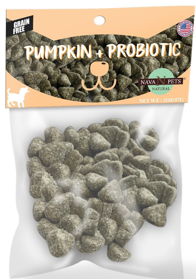 Nava Pets Pumpkin Ginger Probiotic Dog Chews 4OZ
