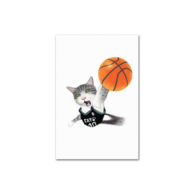 Nordic Style Cats Wall Art and Canvas Posters