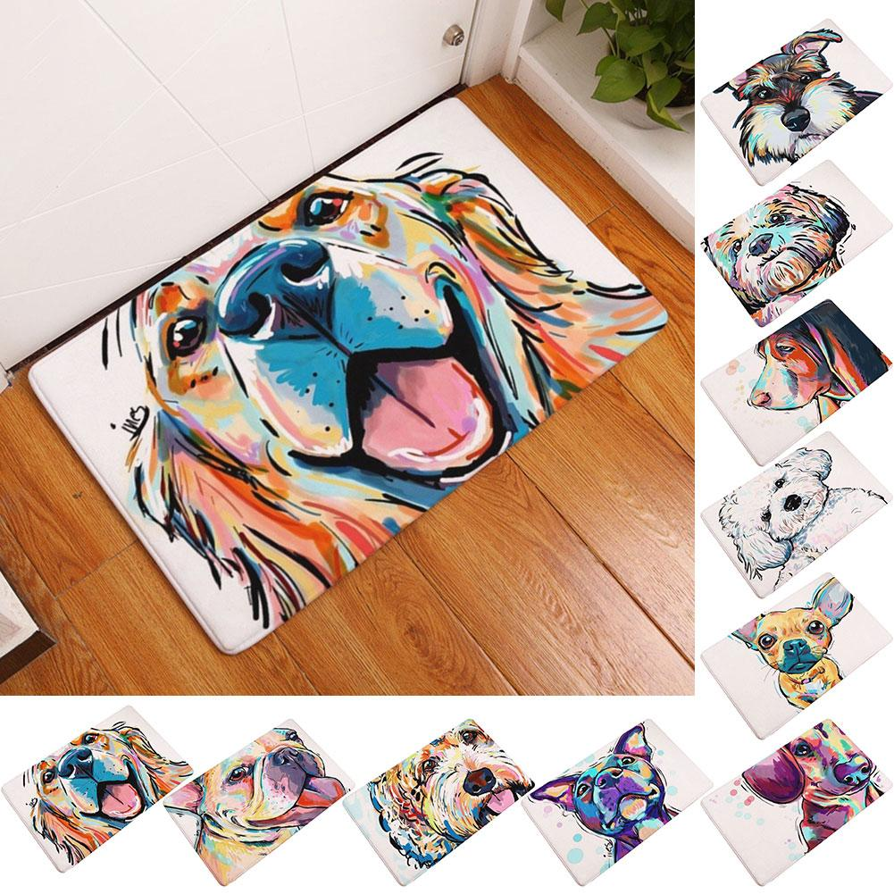 Cartoon Dogs Non Slip Floor or Bathroom Mat