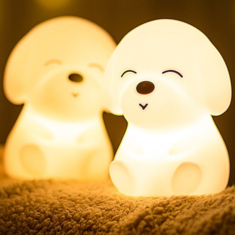 Cute Silicone Cat LED USB Rechargeable Night Light