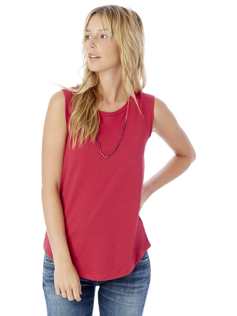 Cap Sleeve Crew - Summer Berry