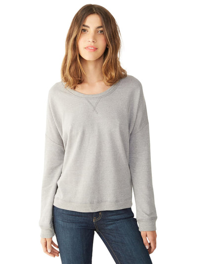 Sunset Eco-Mock Twist Crew Sweatshirt - Mock Nickel
