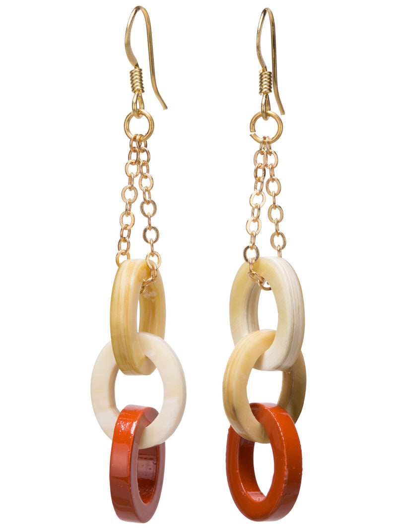 Link Drop Earrings - Sunset