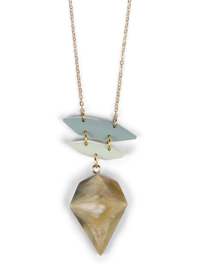 Dakotah Pendant Necklace - Ether with Milky Green