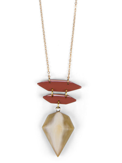 Dakotah Pendant Necklace - Apricot