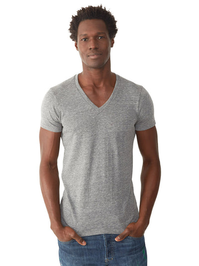 Boss Triblend V-Neck Tee - Eco Grey