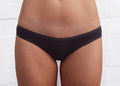 Women's Organic Cotton Bikini Panties - Black