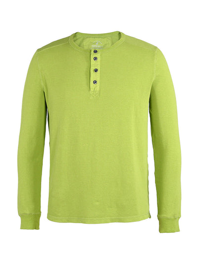 Men's Dawn Henley Hemp Cotton Blend - Green Glow