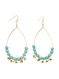 Raindrop Bead Earrings - Turquoise