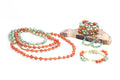 Colorblock Wrap Beaded Bracelet - Sunset and Turqouise
