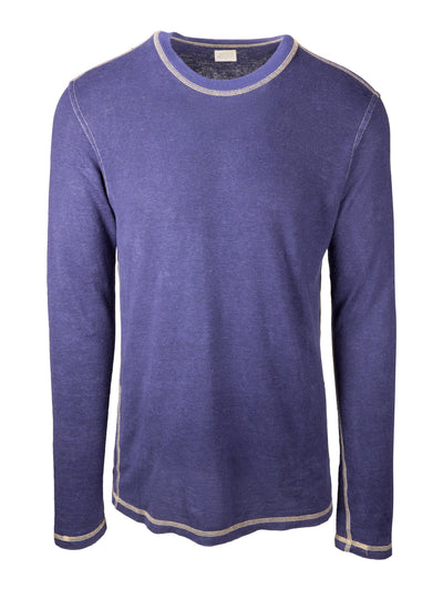 Long Sleeve Hemp Tee - Midnight Blue