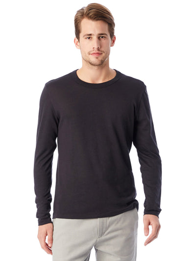 Keeper Vintage Jersey Triblend Long Sleeve Tee - Black