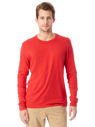 Keeper Vintage Jersey Triblend Long Sleeve Tee - Red