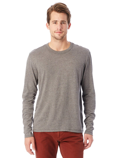 Keeper Vintage Jersey Triblend Long Sleeve Tee - Vintage Coal