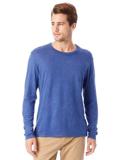 Keeper Vintage Jersey Triblend Long Sleeve Tee - Vintage Royal