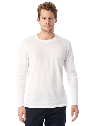 Keeper Vintage Jersey Triblend Long Sleeve Tee - White
