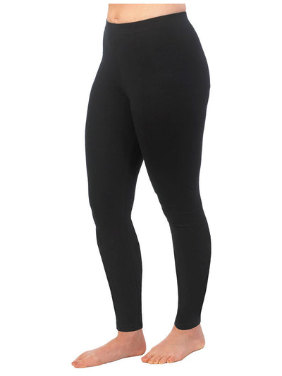 Organic Cotton Ankle Leggings - Black