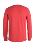 Men's Dawn Henley Hemp Cotton Blend - Fiery Red