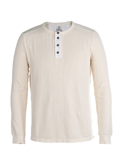 Men's Dawn Henley Hemp Cotton Blend - Natural