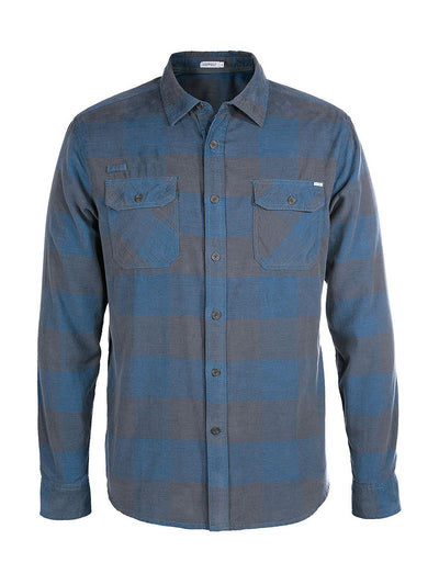 Knock On My Door Organic Cotton Cord Shirt - Coastal Blue