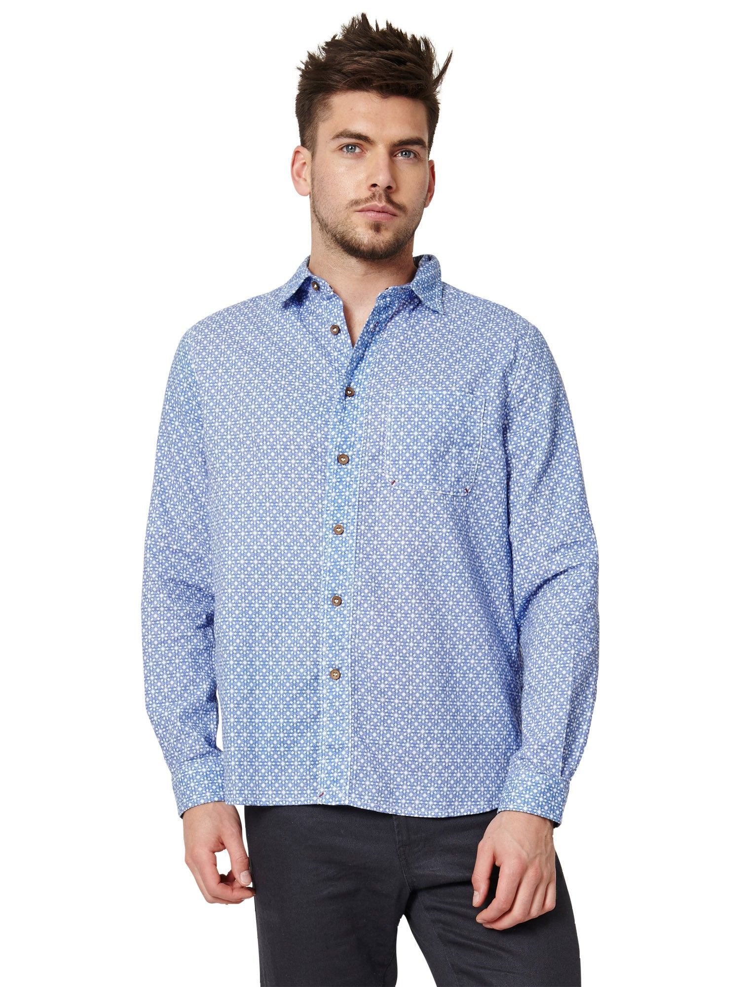 Thought men 39 s lachlan organic cotton button down shirt for Organic cotton button down shirts