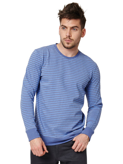 Laken Organic Cotton Long Sleeve Tee - Sea Blue