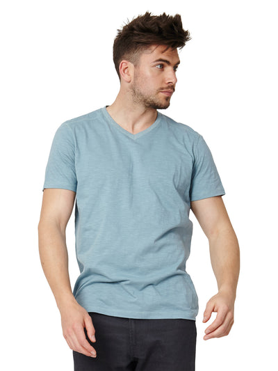 Jude Organic Cotton V-Neck Tee - Mint Green