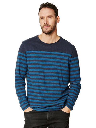 Edvard Organic Cotton Long Sleeve Tee - Ocean