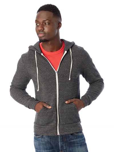 Rocky Eco-fleece Zip Hoodie - Eco Black