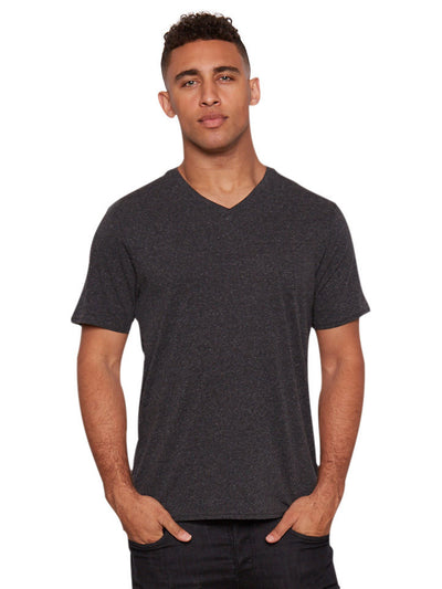 Triblend V-neck Tee - Heather Black