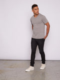 Triblend V-neck Tee - Heather Grey