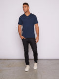 Triblend V-neck Tee - Midnight Blue