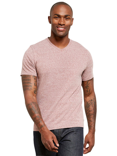 Triblend V-neck Tee - Brick Red