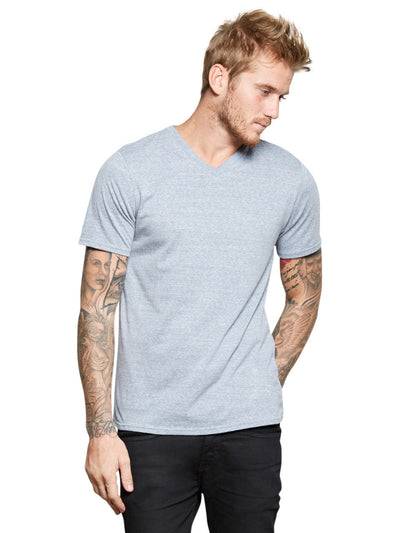 Triblend V-neck Tee - China Blue