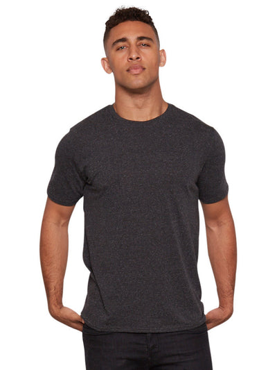 Triblend Crew Tee - Heather Black