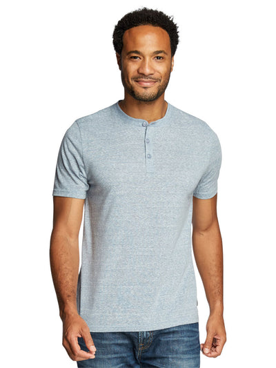 Baseline Triblend Short Sleeve Henley - China Blue