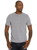 Baseline Triblend Short Sleeve Henley - Heather Grey