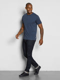 Baseline Triblend Short Sleeve Henley - Midnight Blue