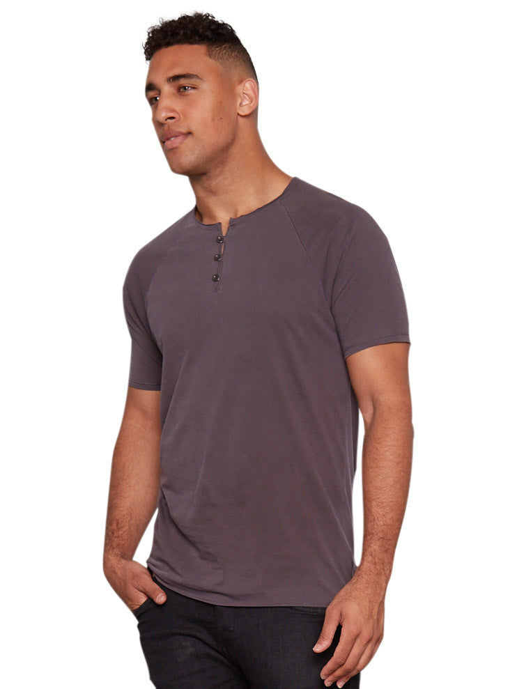 Organic Cotton Short Sleeve Henley - Periscope